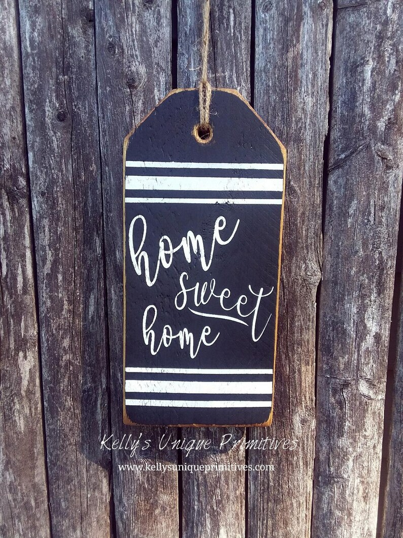 Home Sweet Home Large Wooden Tag Farmhouse Tags