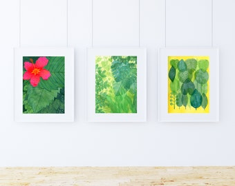 TROPICAL Art Prints SETS /Make your own sets /Posters/ Botanical prints/ Tropical Illustrations Series/ 8.5 x 11 paper size (Unframed)