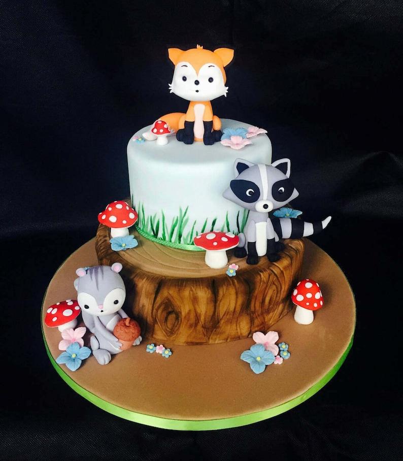 Fondant Fox Cake Topper | Etsy