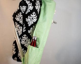 Yoga bag, Sequins bag, Yoga mat bag, Mat bag, Exercise mat bag