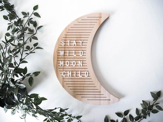 Lettre Conseil lune en bois / naturel bois / bois ...