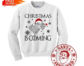 Gaming Kersttrui.Game Of Thrones Ugly Sweater Etsy