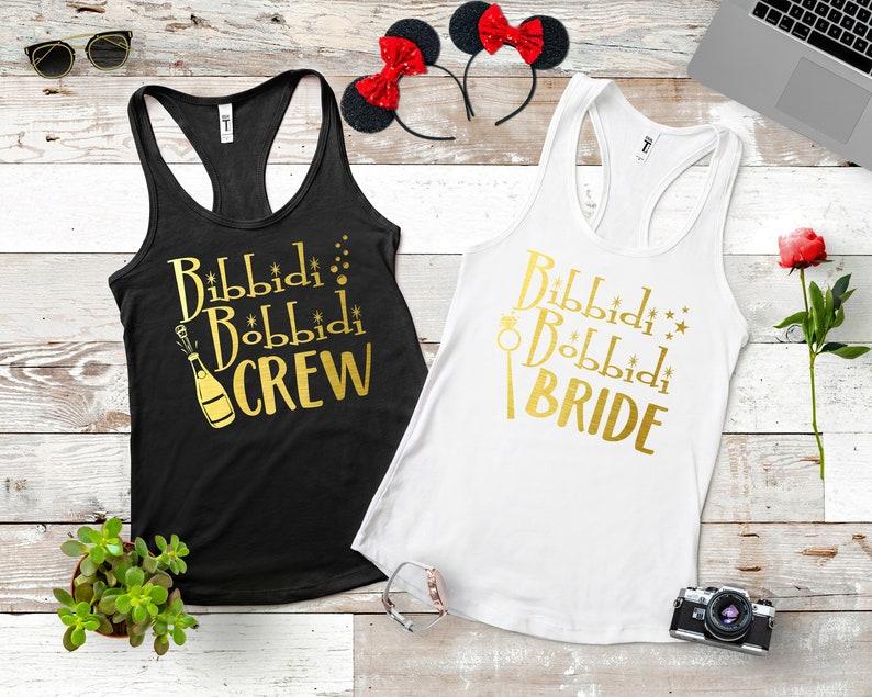 685cf1a470f2 Disney Bachelorette Party Shirts Bibbidi Bobbidi Bride Shirt | Etsy
