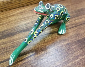 Colorful Hand Painted Art Deco Frog