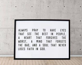 PRINTABLE: Always Pray