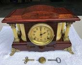 1910 s Antique Seth Thomas Adamantine Mantle Shelf Clock Working Correctly