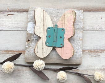 3D Reclaimed wood butterfly - nursery decor