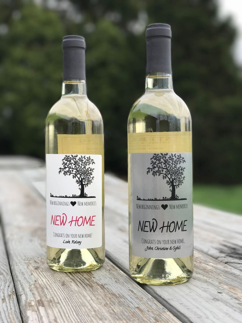 3115d755434 New Home Wine Label Custom Housewarming Gift Personalized   Etsy