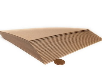 8.5 x 11 Inch Chip Board Sheets Made and Packaged in USA Pack of 10 Medium Heavy Weight 52 Point 100/% Recycled Material | Brown Kraft ChipBoard Pads