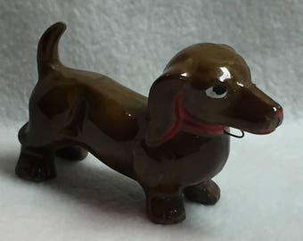 Brown Dachshund with Red Collar (#065)