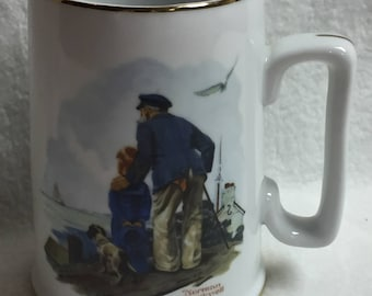 Norman Rockwell Looking Out to Sea Mug (#002)