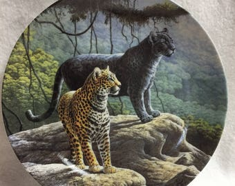 Knowles Great Cats of the Americas Collector Plate - The Jaguar (#34)