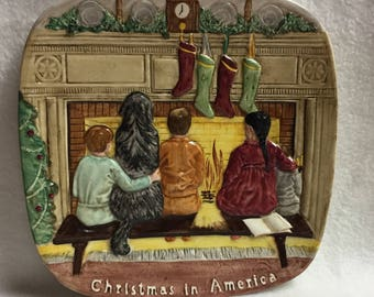 Royal Doulton Beswick - Christmas in America Collector Plate (#076)