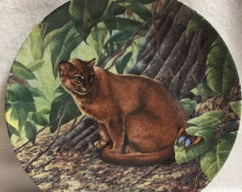 Knowles Great Cats of the Americas Collector Plate - The Jaguardundi (#030)