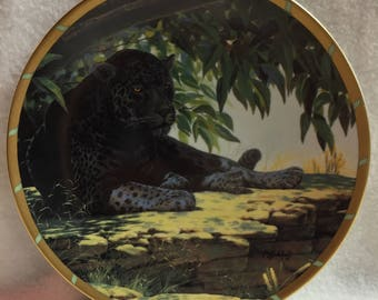 Lenox Guy Coheleach's Royal Cats Collector Plate - 'Siesta' - Black Leopard (#207)