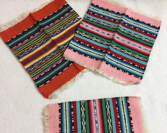 Vintage Dollhouse Accessories - Rugs - Set of 3 (#117)
