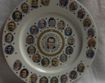 Presidents of the United States Collector Plate - Nixon (#010)