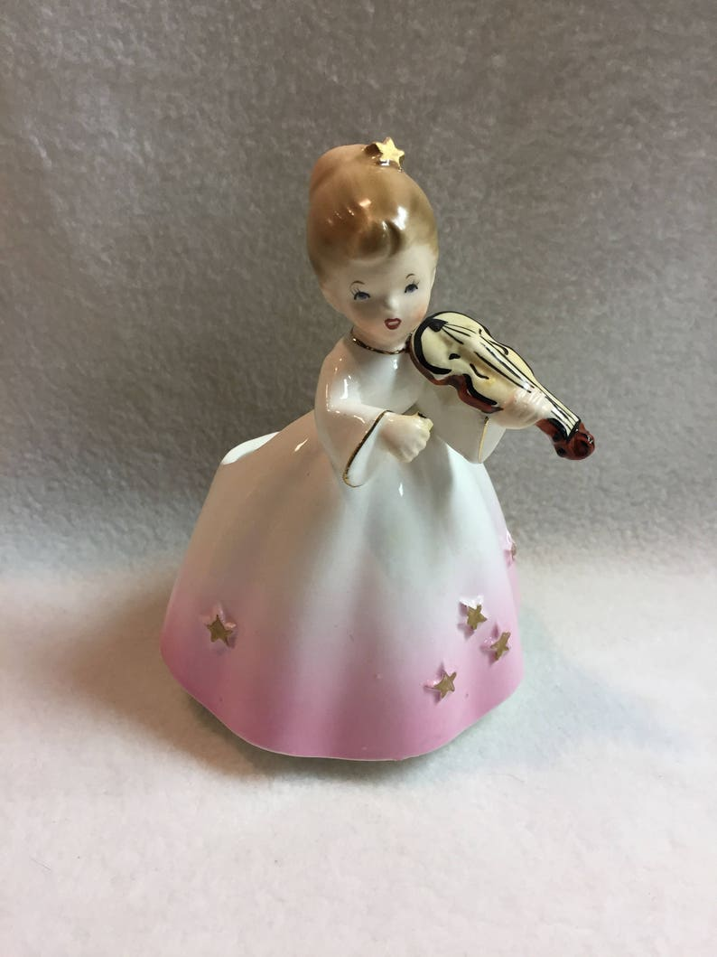 Inarco Girl in Pink Dress with Violin Garden Planter #PLA139