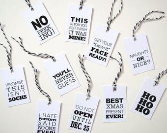 Christmas Gift Tags - Type