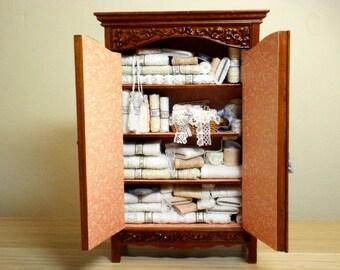 JBM Lace Haberdashery Linen Cupboard Cabinet