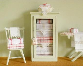 Miniature Linen Cabinet/Cupboard