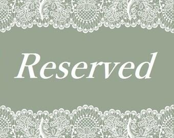 Reserved For Felece