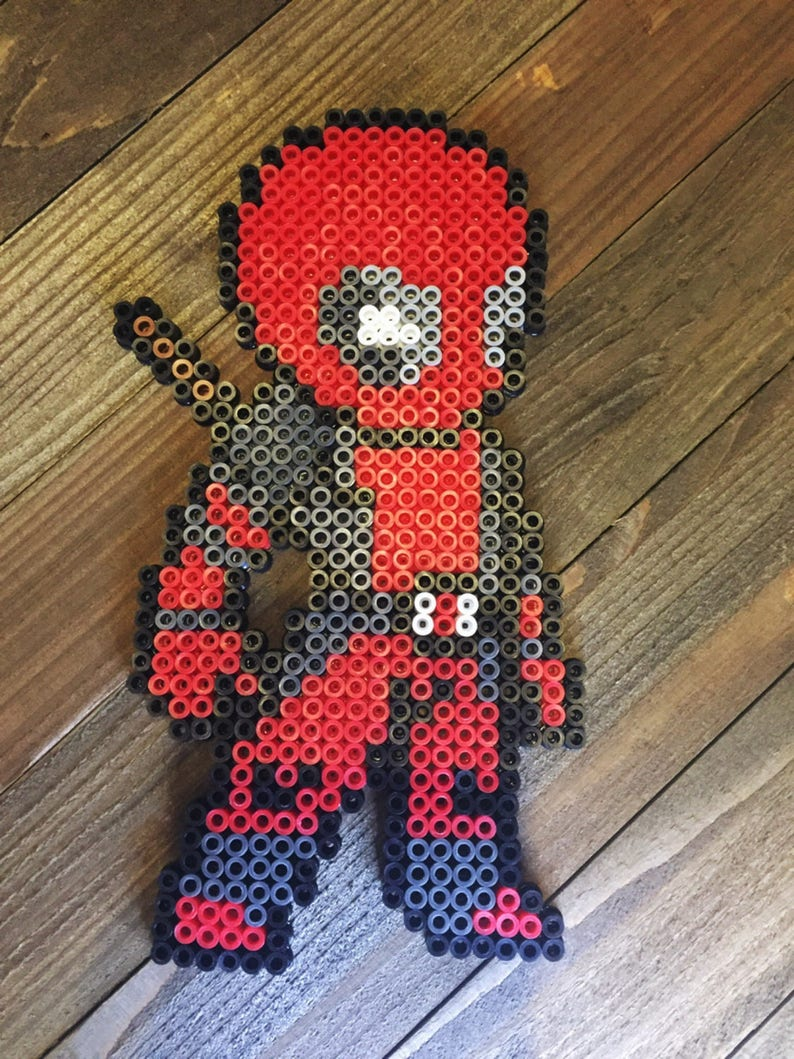 Deadpool Perler Bead Etsy