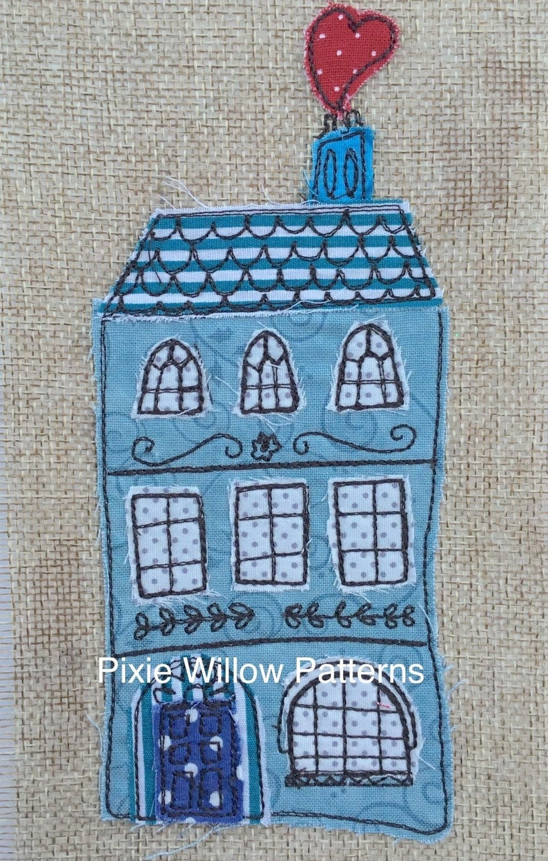 ITH 5x7, Raw Edge Applique House, Digital Embroidery Design - Machine  Embroidery Pattern, Great housewarming gift by Pixie Willow Patterns