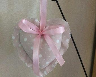 Fabric heart to hang