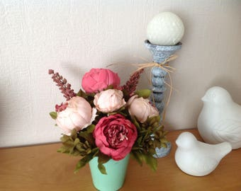 flower bouquet of Peony jar