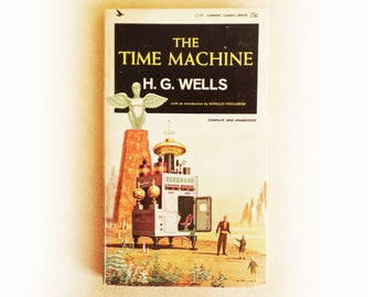 HG Wells - The Time Machine - science fiction vintage paperback book - 1964