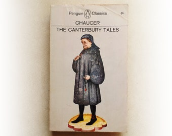 Geoffrey Chaucer - The Canterbury Tales - Penguin vintage paperback book - 1966