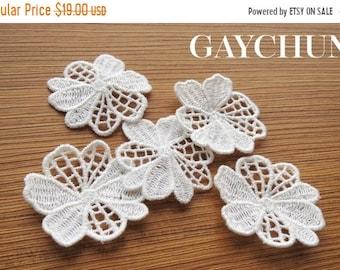 GAYCHUN Decor Handmade Ivory flower patch Guipure applique wedding decoration wedding dress