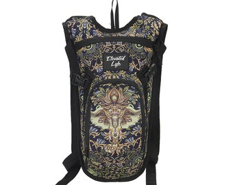 Royal Elephant - Mini Pack Hydration Pack - 2L Water Bladder Included - Perfect for music festivals & RAVES!
