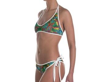 Lovely Tzunun psychedelic Bikini