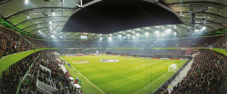 Wolfsburg Stadium \u2013 Poster 120 x 50 cm \u2013 high-quality FineArtPrint