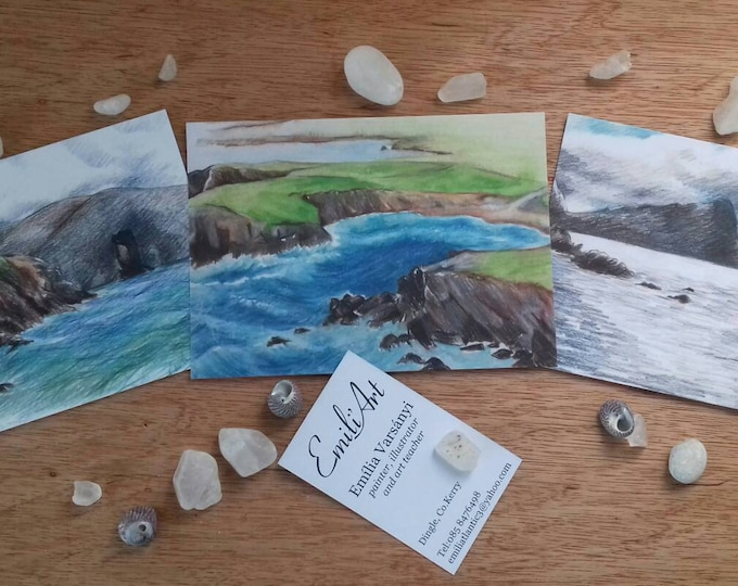 Postcards in set from the Dingle Peninsula