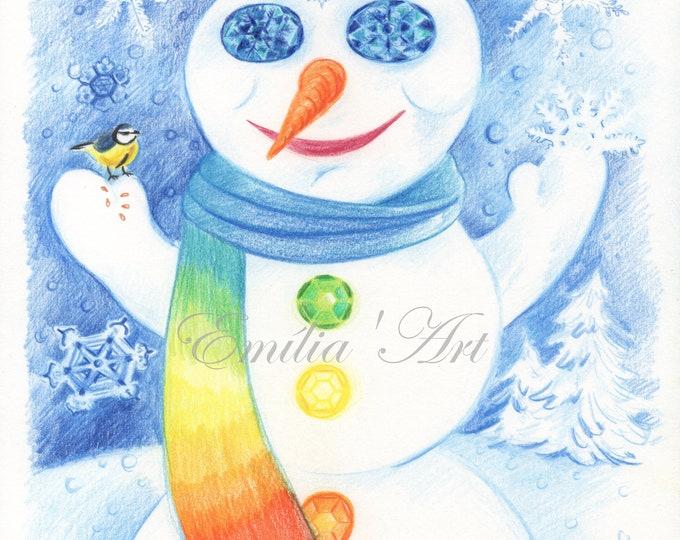 Rainbow Snowman
