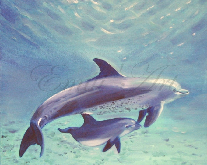 Maternity , Dolphin mum with her baby dolphin represents love,harmony and balance.Symbolise protection, fondness,playfulness and joy.