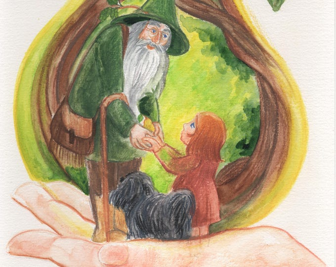 Meeting with the Druid in the Killarney forest