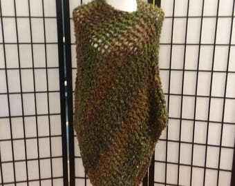 Hand Made Knitted Poncho