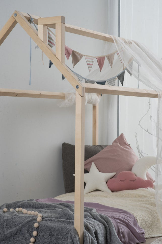 Holz-Bettrahmen Kinder Eco Bett Montessori-Bett Birke | Etsy