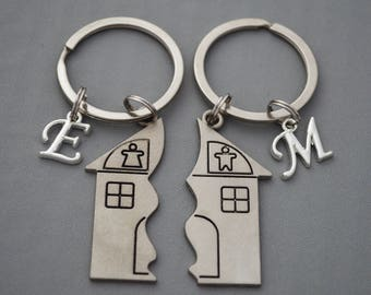 New home Keyring, New home gift, New home housewarming gift, Home sweet home, new house