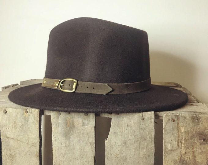 Betty Fedora Hat, S/55cm - dark brown