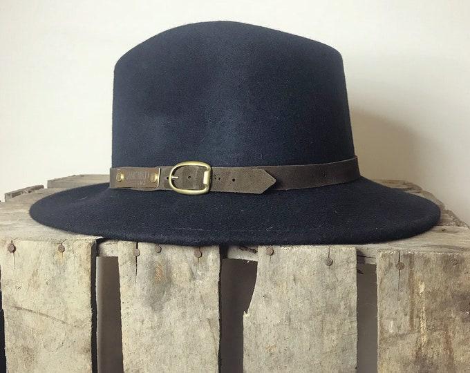 Betty Fedora Hat, S/55cm - navy