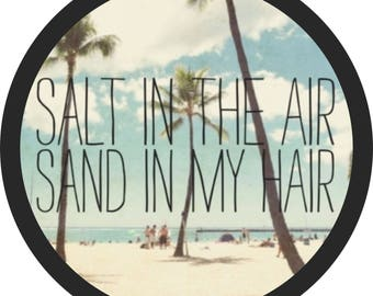 Salt in the Air, Sand in my Hair Spare Tire Cover Jeep Wrangler Rubicon Liberty RV Trailer