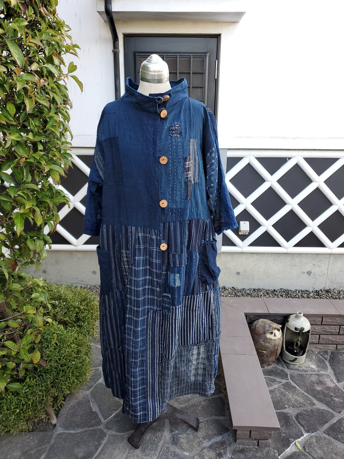 All Hand-stitched Vintage Japanese Clothes Remake Handmade Boro ,free Shipping
