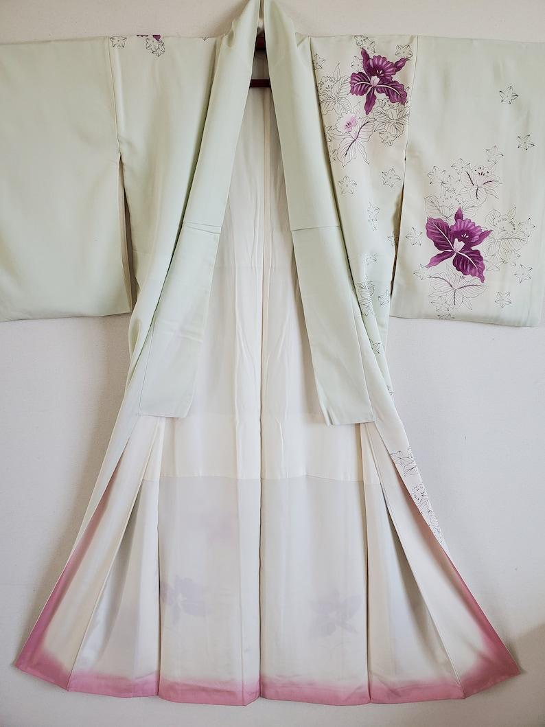KIMONO Jacket,Free Shipping, Japanese Silk KIMONO Robe