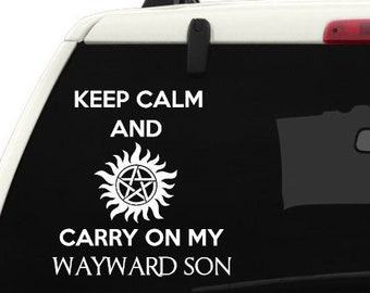 Supernatural Wayward sons Car decal