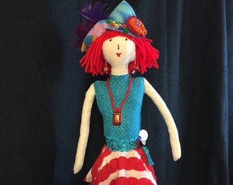 18 inch red hair doll